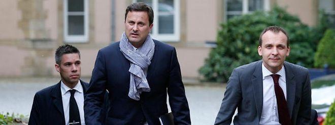 """Xavier Bettels Chauffeur und Personenschützer, Mike Gira (links im Bild), entlastet seinen Chef in der """"Affäre Bettel-Kemmer""""."""