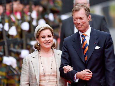 Großherzog  Henri und Großherzogin Maria Teresa.