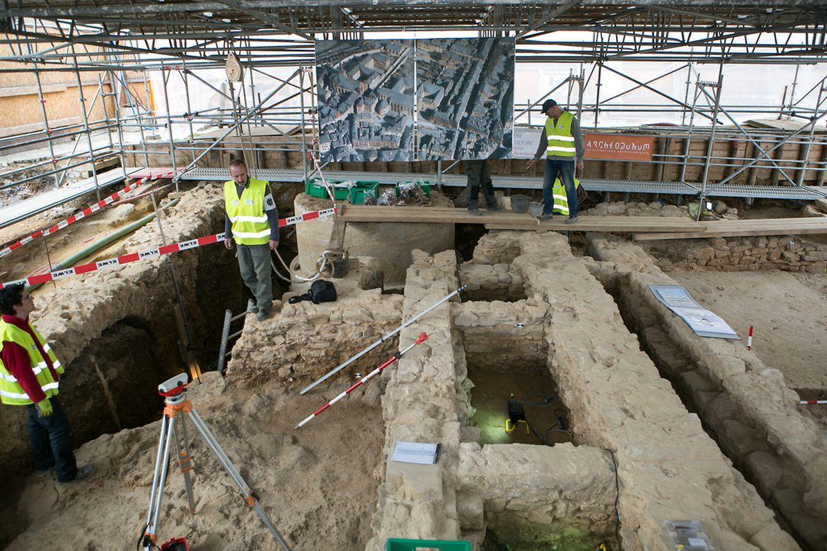 Historische Funde: Unterhalb des Knuedler entdeckten Archäologen die Überreste eines Franziskanerklosters.