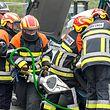 5.7. Sanem / Nationalen Trauma an Rescue Challenge , organiseiert vun der Luxembourg Rescue Organisation / Protection Civile , Feuerwehr , Rettungseinsatz , Unfall , Sauvetage , Hilfe , Freiwillige Feuerwehr , Uebung Foto: Guy Jallay