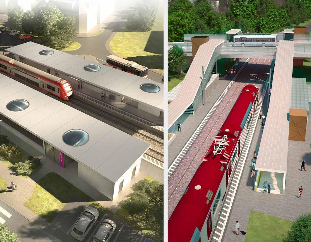 Douze gares feront l'objet d'un programme de modernisation: Kleinbettingen et Lorentzweiler (2018), Cents-Hamm et Sandweiler-Contern (2019), Bettembourg (2020), Walferdange, Berchem et Ettelbruck (2022), Rodange, Mersch et Capellen (2023), et Wasserbillig (2024).