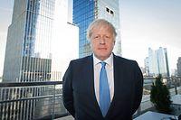 """24.09.2019, USA, New York: Boris Johnson, Premierminister von Großbritannien, steht auf einem Balkon. (zu dpa: """"Neue Vorwürfe gegen Boris Johnson: Amtsmissbrauch als Bürgermeister """") Foto: Stefan Rousseau/PA Wire/dpa +++ dpa-Bildfunk +++"""
