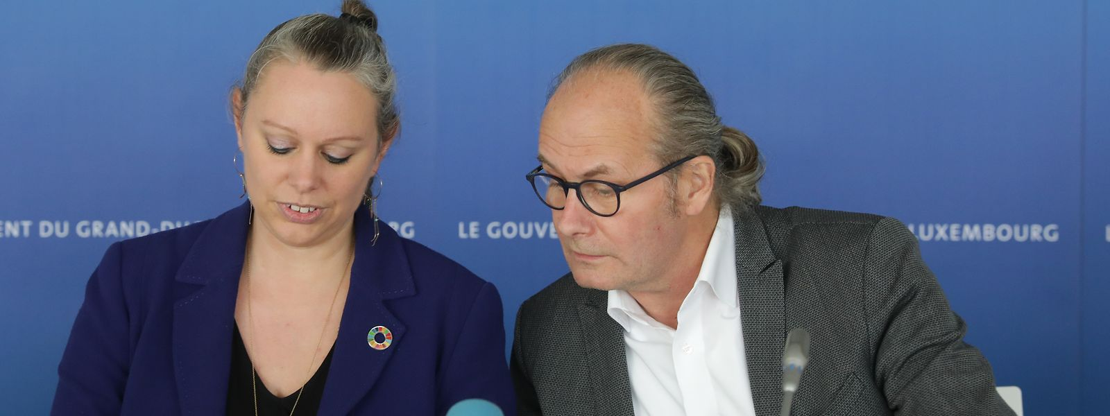 Federführend: Die Grünen-Minister Carole Dieschbourg (Klima) und Claude Turmes (Energie).