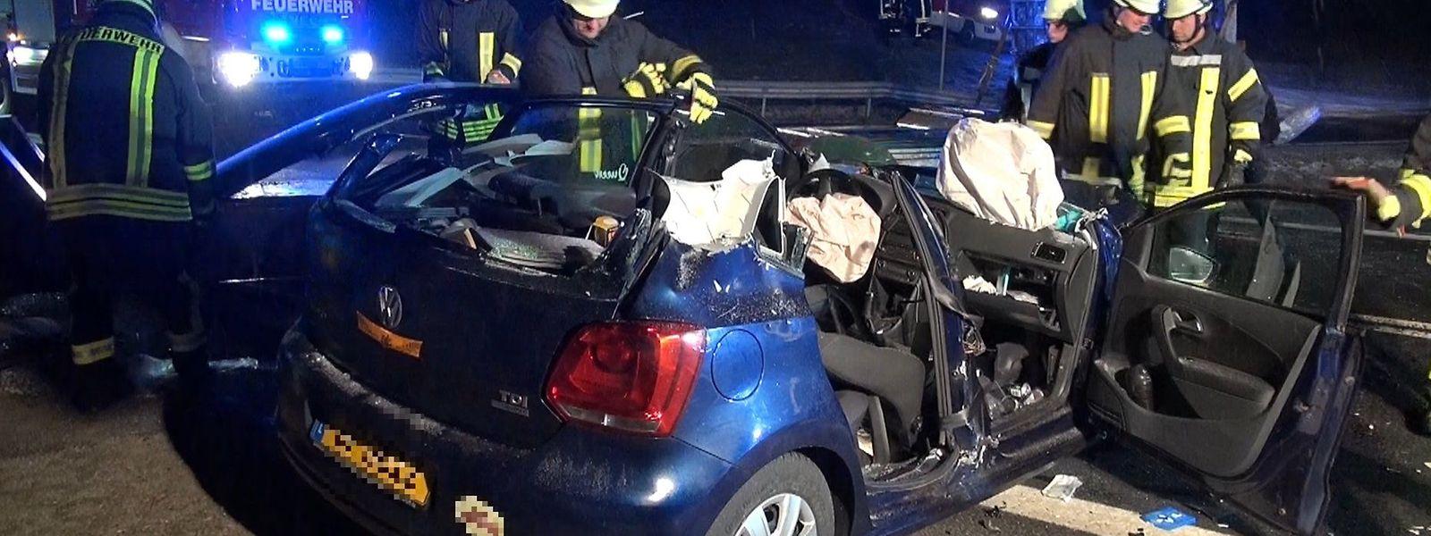 Die beiden Insassen des in Luxemburg zugelassenen VW wurden in Krankenhäuser in der Umgebung gebracht.