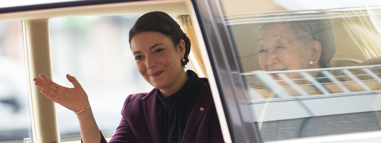 Prinzessin Alexandra - hier neben der emeritierten japanischen Kaiserin Michiko - vertrat 2017 ihre Mutter, Großherzogin Maria Teresa, beim Staatsbesuch in Japan.