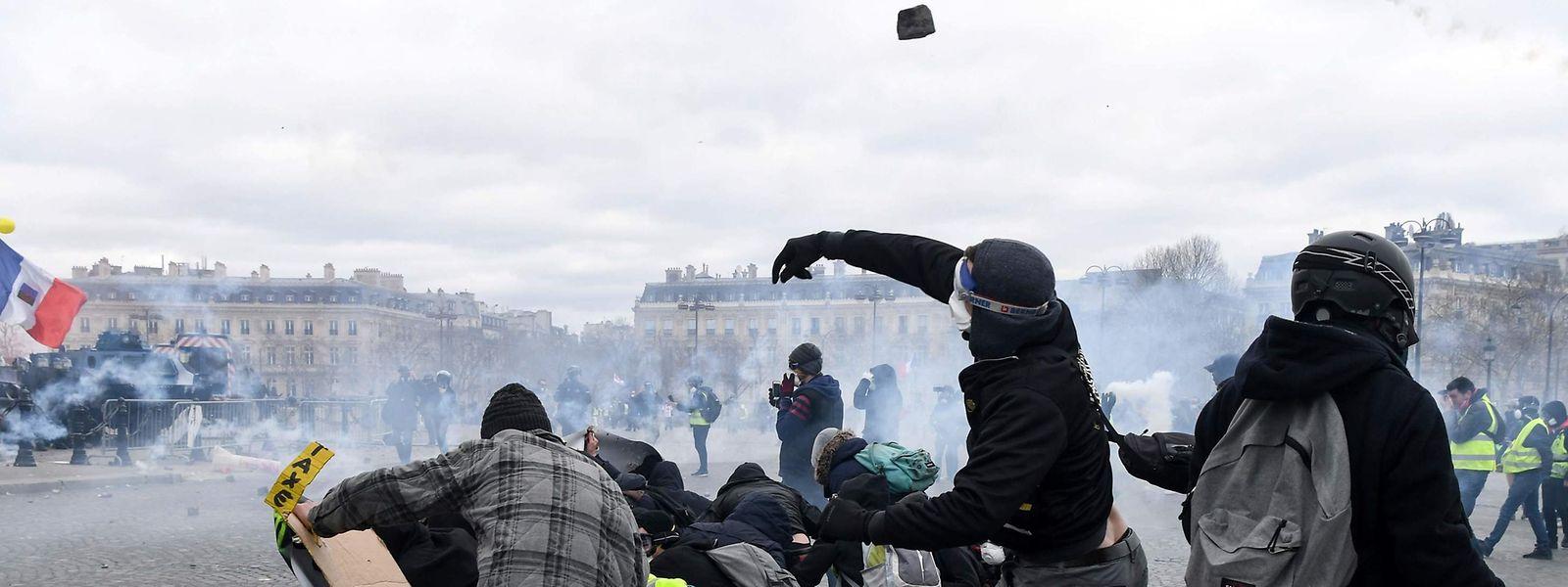 Krawalle am 16. März an der Place de l'Etoile: Bei Protesten der «Gelbwesten» in Paris war es kürzlich zu gewalttätigen Ausschreitungen gekommen.