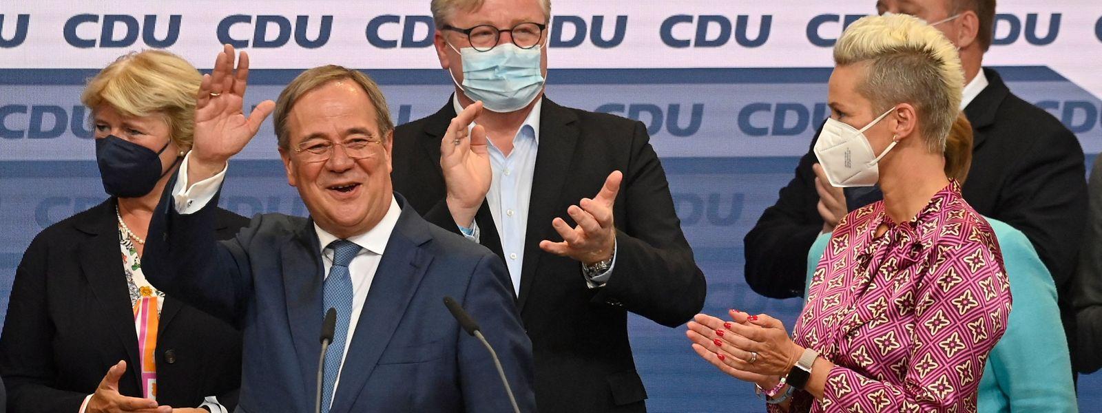 Sourire de façade pour Armin Laschet qui n'a pas réussi à imposer les idées CDU-CSU dans les urnes.
