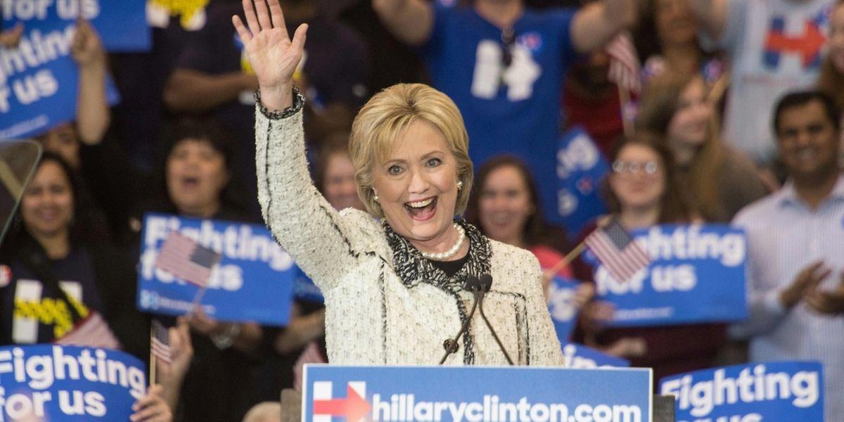 Hillary Clinton feiert ihren Sieg in South Carolina