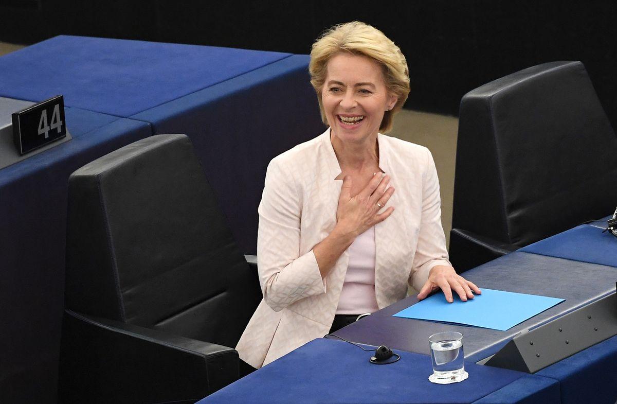 Soulagement visible sur le visage de la nouvelle élue à la tête de la Commission européenne. Le suspense aura duré