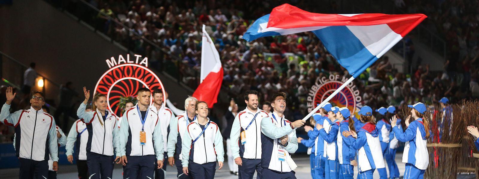 Als Fahnenträger bei den Europaspielen 2019 in Minsk erlebt Robert Mann einen seiner stolzesten Momente.