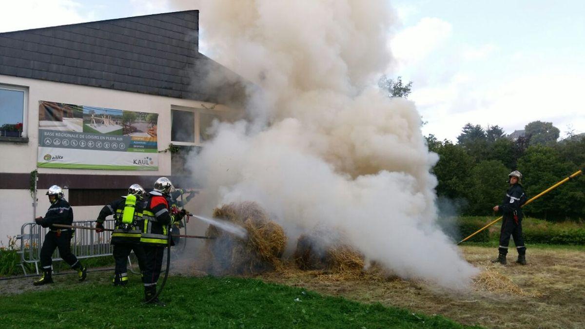 Die Feuerwehr aus Wiltz konnte den Brand schnell löschen.