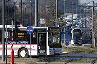 Gratis öffentlicher Transport, Tram, Luxtram, Mobilität, Bus, Kirchberg, foto: Chris Karaba/Luxemburger Wort