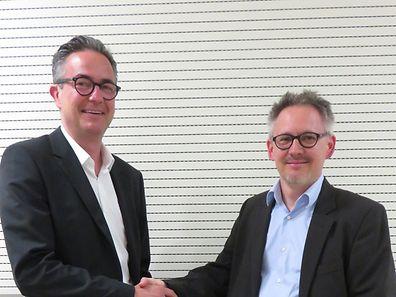 Ernest Pirsch (à gauche) passe le relais à Philippe Mersch mais reste au sein du conseil d'administration.