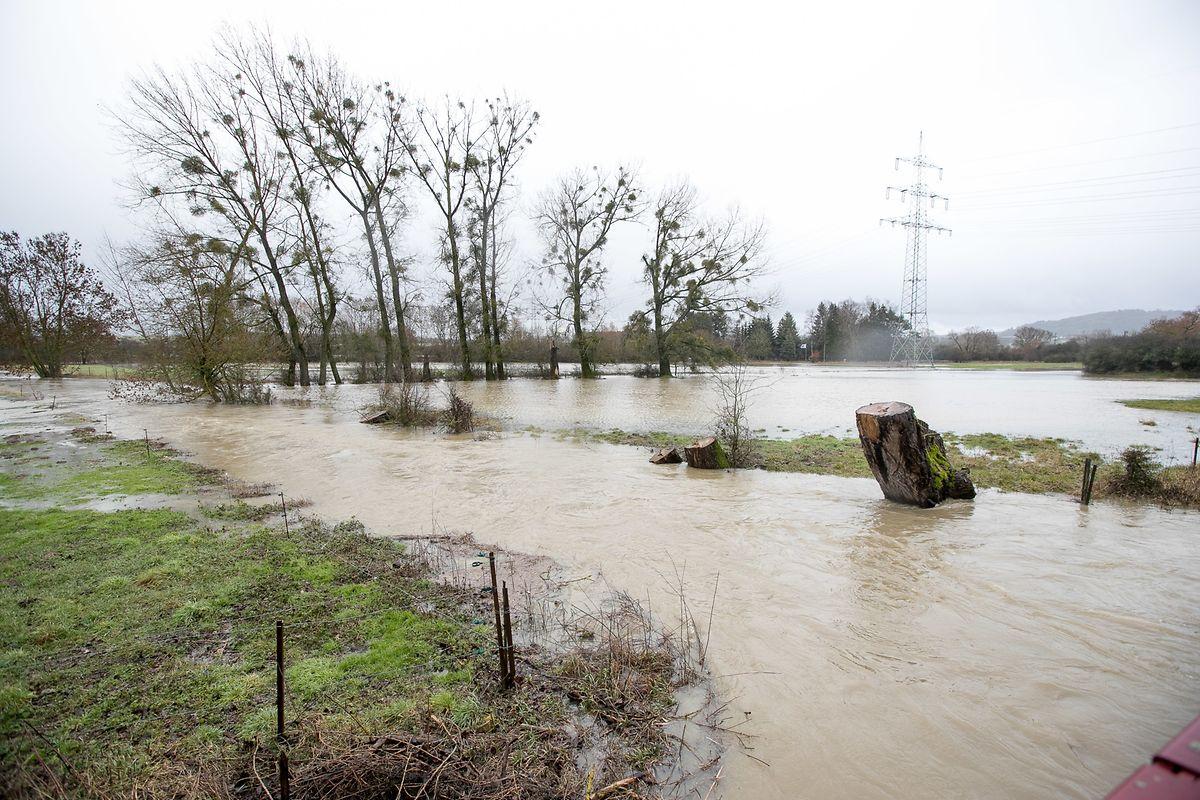 Überschwemmungen in Hüncheringen (Gemeinde Bettemburg).