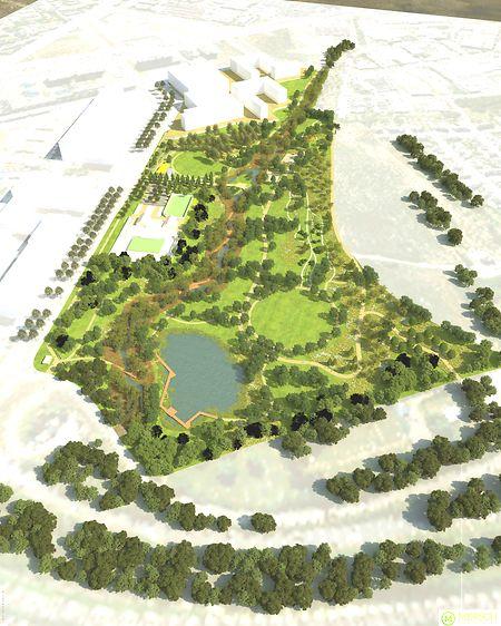 Entre la nouvelle caserne du CGDIS et les premières tours d'habitation, le parc de Gasperich va donner un nouvel élan au quartier.