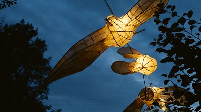 zahlreiche Lampions sorgten f�r eine Wunderwelt aus Licht. / Foto: Armand WAGNER