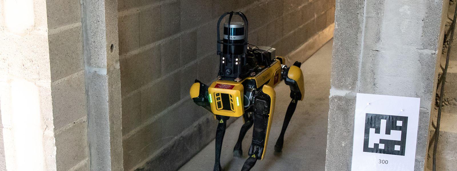 Der Roboter Spot kann selbstständig Hindernissen ausweichen.