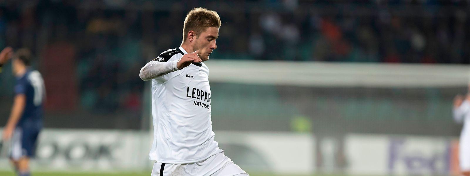 David Turpel will seinen zweiten Treffer in der Gruppenphase der Europa League erzielen.