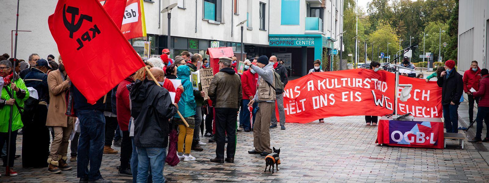 Les manifestants ont dénoncé la problématique du logement à Esch mais plus largement au Luxembourg.