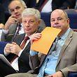 Ein eingespieltes Duo: CSV-Fraktionschef Claude Wiseler (l.) und Parteichef Marc Spautz.
