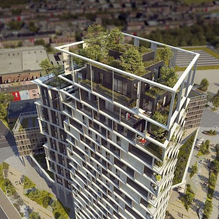 Ganz oben sind mehrstöckige Wohnungen vorgesehen.