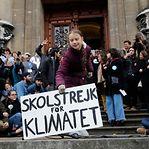 """Greta Thunberg. """"Vocês ainda não viram nada. Podemos garantir-vos"""""""