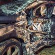 Die vier Insassen dieses Wagens wurden bei dem Unfall verletzt.