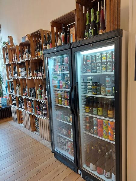 You can find local craft beers at specialist shops like this one