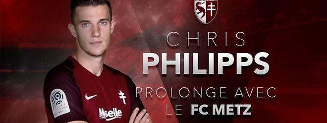 Chris Philipps portera le maillot grenat jusqu'en 2019... au moins