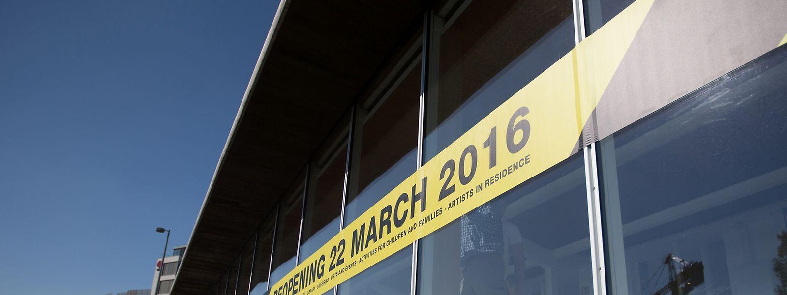 Neueröffnung des Casino Luxembourg am Dienstagabend.