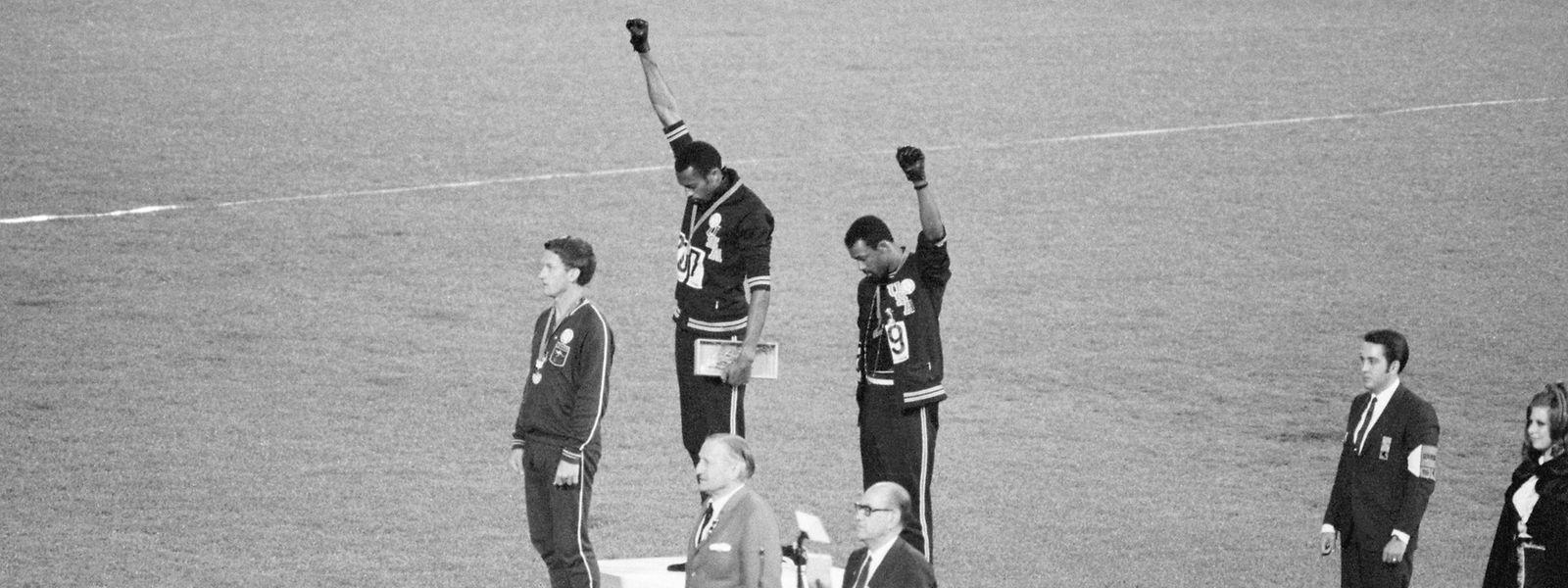 17. Oktober 1968: Vor 50 Jahren sorgen Tommie Smith und John Carlos mit ihrem Podest-Protest bei Olympia für Schlagzeilen.
