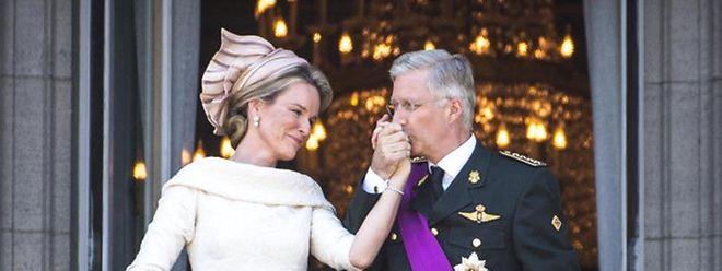 Königin Mathilde trug Natan.