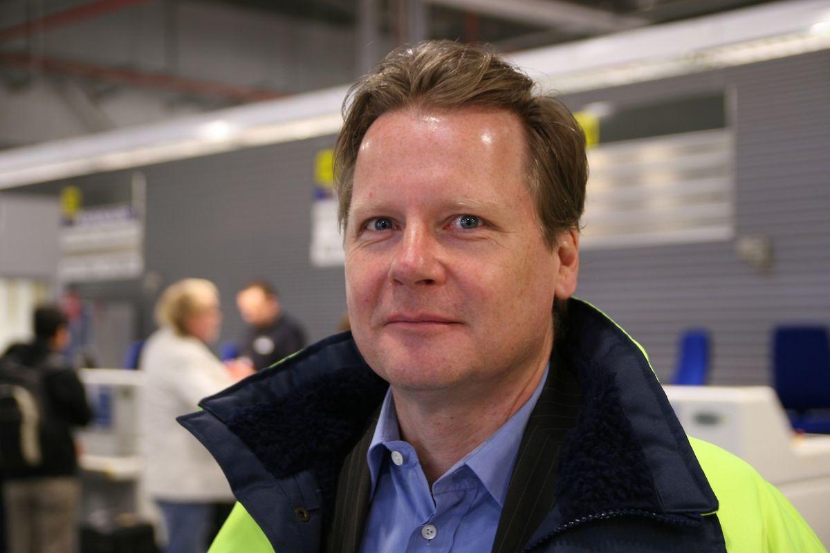 """""""Von 2015 auf 2016 wird es einen kleinen Rückgang geben"""", sagte Flughafen-Chef Markus Bunk."""