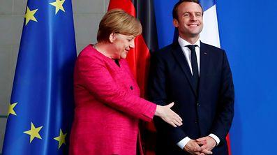 Am 15. Mai war Macron bei der deutschen Bundeskanzlerin zu Gast.