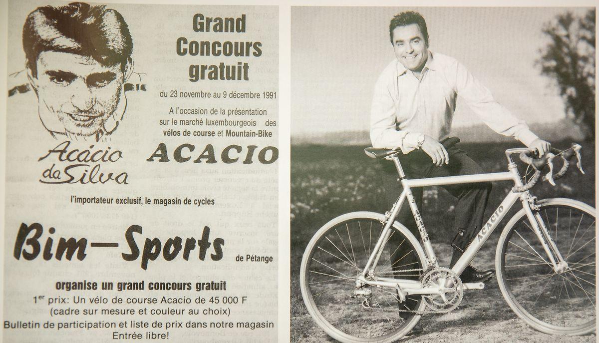 A marca de bicicletas Acácio, vendidas no Luxemburgo.