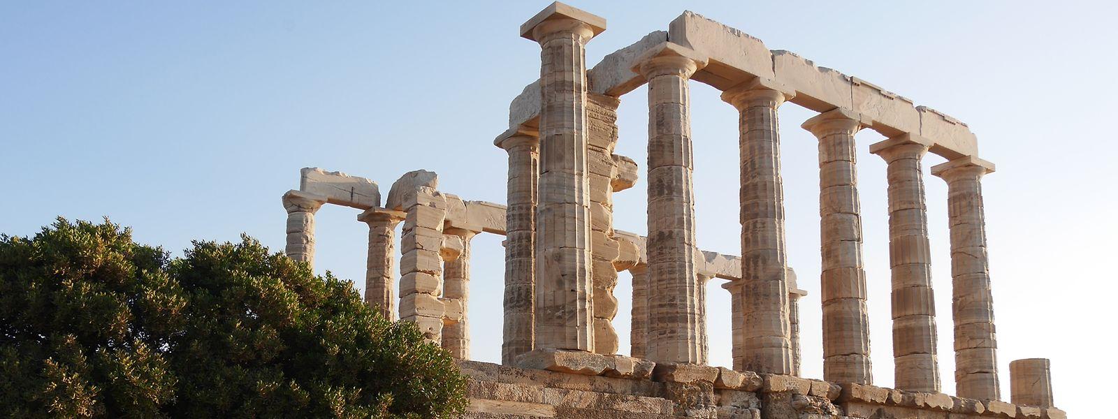 Antike Tempelanlagen sind eines von vielen Markenzeichen Griechenlands: so wie hier am Kap Sounion.