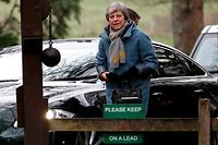 Britain's Prime Minister Theresa May arrives to attend a church service, near her Maidenhead constituency, west of London on April 7, 2019. - Prime Minister Theresa May asked the European Union on Friday to delay Britain's departure until June 30 while Brussels suggested that it might be best to postpone the split for up to a year. EU leaders also reacted sceptically, saying that there had to be a strong justification for any further delay. (Photo by Adrian DENNIS / AFP)