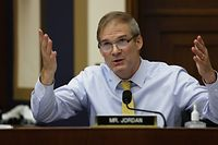 """Rep. Jim Jordan, R-OH, speaks during the House Judiciary Subcommittee on Antitrust, Commercial and Administrative Law hearing on """"Online Platforms and Market Power"""" in the Rayburn House office Building on Capitol Hill in Washington, DC on July 29, 2020. (Photo by POOL / AFP)"""