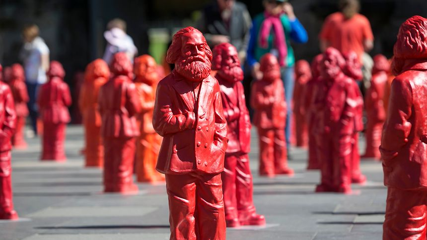 Marx-Figuren in Trier.