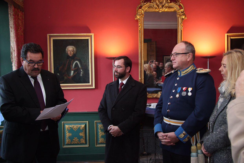 Erbgroßherzog Guillaume nahm an der Gedenkfeier teil.