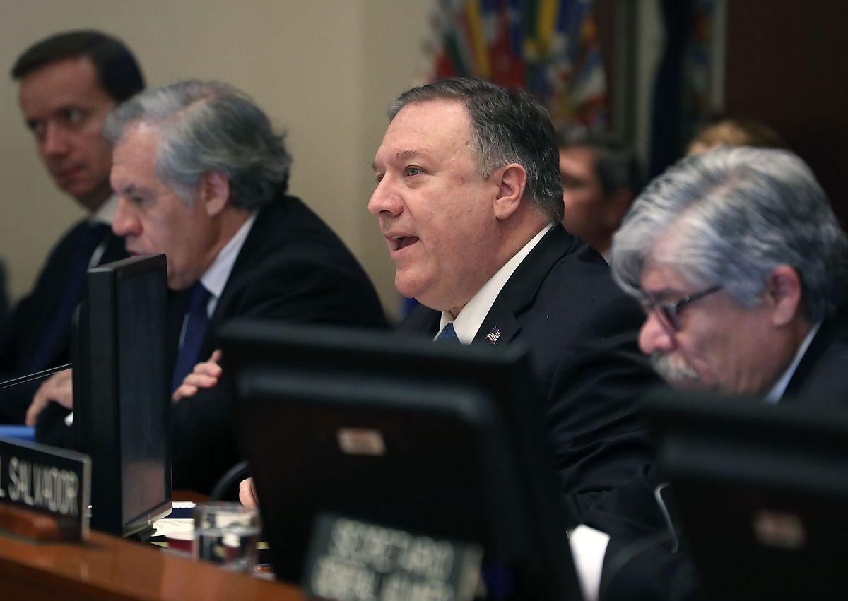 US-Außenminister Mike Pompeo vor der Organisation der Amerikanischen Staaten.