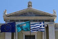 Griechenlands Schuldenlage hellt sich auf.