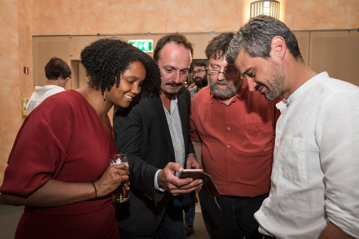 "Die ""unhappy winners"" (v.l.): Ana Correia Da Veiga, Marc Baum, Serge Urbany, David Wagner."