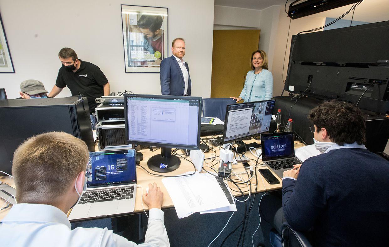 Premiere in Luxemburg: Die DP hielt am Montag als erste Partei ihren Kongress in digitaler Form ab. Die Delegierten konnten ihre Fragen live an die liberalen Minister richten.