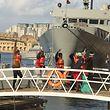 Anfang Januar konnten diese Flüchtlinge in Malta erstmals seit Tagen wieder festen Boden betreten.