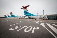 Ganze Luxair Flotte wegen coronavirus am Boden - Foto: Pierre Matgé/Luxemburger Wort