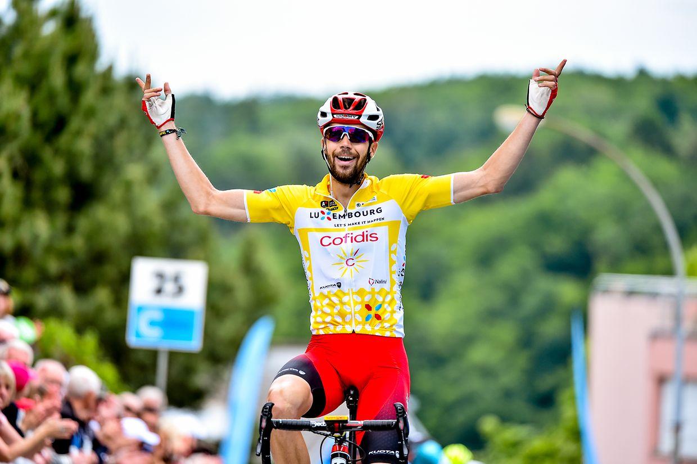 Jesus Herrada (E/Cofidis) gewinnt die letzte Etappe und die Gesamtwertung der Skoda Tour de Luxembourg 2019.