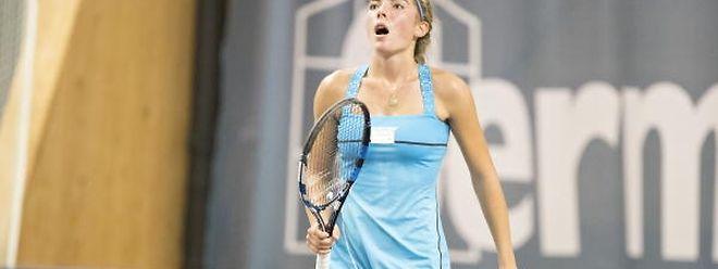 Eléonora Molinaro a cédé lors de son quatrième match à Amiens.