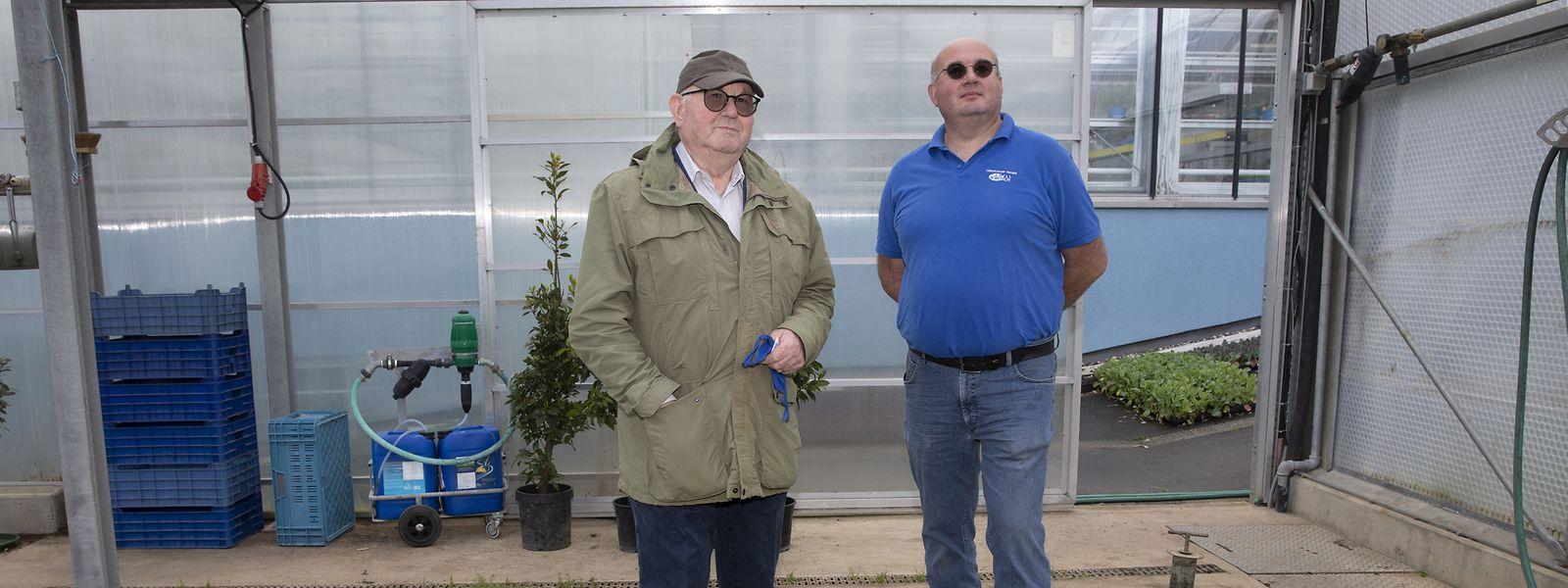 Die Gärtnerei Kirsch ist ein Familienbetrieb in fünfter Generation. Vater Niki (l.) hat das Geschäft 1967 von seinen Eltern übernommen. Sein Sohn Claude leitet es seit 2011.