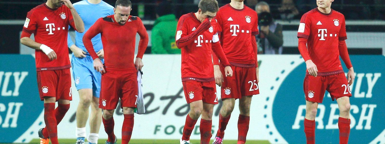 Die Bayern-Spieler mussten den Platz als Verlierer verlassen.